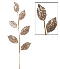 "Katherine's Collection Royal White Christmas Collection Twelve 28"" Gilded Leaf Stems Free Ship"