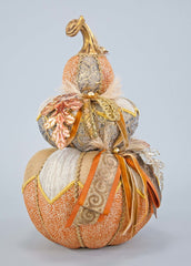 "Katherine's Collection The Gilded Seasons Collection 18"" Gilded Pumpkin Stack Free Ship"