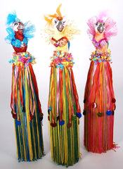 "Katherine's Collection Set Three 17"" Gina Parrot Bottle Toppers Free Ship-IN STOCK"