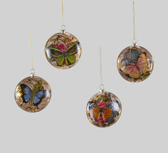 "Katherine's Collection Secret Garden Collection Twelve Assort 3.5"" Glass Butterfly Ornaments Free Ship"