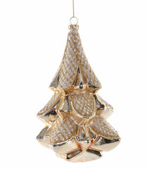 "Katherine's Collection Royal White Christmas Collection Set Six  6"" Glass Tree Ornaments Free Ship"