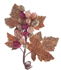 "Katherine's Collection Happily Ever After Christmas Collection Twelve 10"" Encrusted Grape Clusters Free Ship"