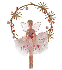 "Katherine's Collection Happily Ever After Christmas Collection Six 8"" Fairy On Jeweled Wreath Ornaments Free Ship"