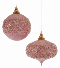 Katherine's Collection Happily Ever After Christmas Collection Eight Assorted 150 mm Large Happily Glittered Ornaments Free Ship