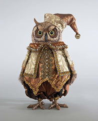 "Katherine's Collection The Gilded Seasons Collection 14"" Holiday Celebrations Tabletop Owl Doll Free Ship"
