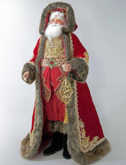 "Katherine's Collection Holiday Cheer Christmas Collection 32"" Santa Claus Doll Free Ship 10% OFF SEE STORE FRONT FOR DISCOUNT CODE"