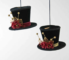 "Katherine's Collection Holiday Cheer Christmas Collection Four Assort 4"" Top Hat Ornaments Free Ship"