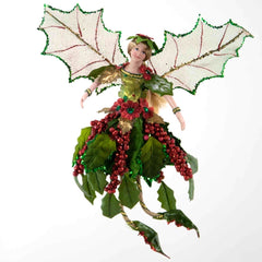 "Katherine's Collection Nigth Before Christmas Collection Six Assort 6"" Holly Wing Fairy Ornaments Free Ship"