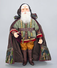 "Katherine's Collection Into The Woods Collection 25"" Woodland Santa Doll Free Ship"