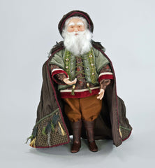 "Katherine's Collection Into The Woods Collection 19"" Woodland Santa Claus Doll Free Ship"