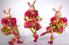 "Katherine's Collection Set THREE 23"" Jackaroo Easter Bunny Dolls Free Ship-IN STOCK"