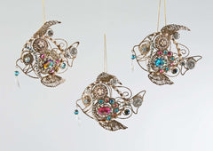 "Katherine's Collection Coastal Celebrations Collection Six Assort 5"" Jeweled Sunfish Ornaments Free Ship"