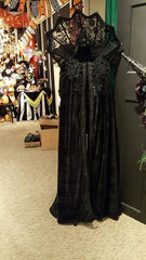 Katherine's Collection Spellbound Halloween Collection 33 x 63L Black Witch Cape Free Ship
