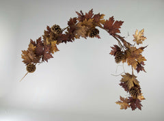Katherine's Collection Into The Woods Collection Two Assort 6 Ft Maple Leaf Pine Cone Garland Free Ship