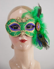 Katherine's Collection 2018 Mardi Gras Collection Twelve 8 x 10 Mardi Gras Masks Free Ship (mannequin not included)