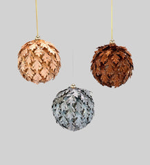 "Katherine's Collection The Gilded Seasons Collection Twelve Assort 4"" Metallic Leaf Ball Ornaments Free Ship"