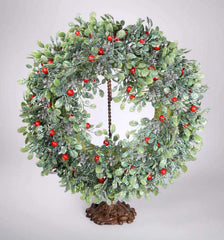 "Katherine's Collection 23"" Frosted Mistletoe Christmas Wreath Free Ship-IN STOCK"