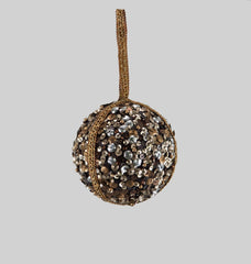 Katherine's Collection The Gilded Seasons Collection Six 100 mm Mixed Metal Sequin Ball Ornaments Free Ship