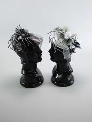 "Katherine's Collection Forest Cemetery Halloween Collection Twelve Assort 8"" Mourning Fascinators Free Ship * Mannequin head not included*"