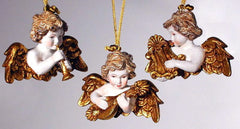 "Katherine's Collection Set Six Approx 5"" Musical Cherub Ornaments Free Ship-IN STOCK"