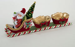 "Katherine's Collection Night Before Christmas Collection Two 13"" L Santa Sleigh W/2Containers Free Ship"