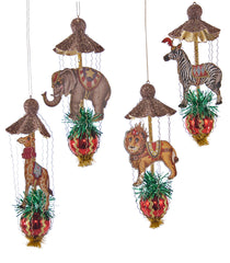 "Katherine's Colelction Noel Christmas Collection Set Twelve Assort Approx 7"" Animal Canopy Ornaments Free Ship"