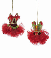 "Katherine's Collection Noel Christmas Collection Six Assorted 4"" Noel Circus Ballerina Dress Ornaments Free Ship"