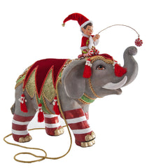 "Katherine's Collection Noel Christmas Collection 17"" Elf Riding Elephant Doll Free Ship"