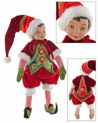 "Katherine's Collection Noel Christmas Collection 16"" Noel Ledge Sitter Elf Free Ship"