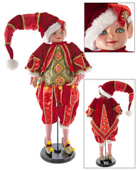 "Katherine's Collection Noel Christmas Collection 32"" Noel Elf Doll Free Ship"