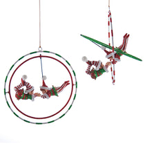 "Katherine's Collection Noel Christmas Collection Eight Assorted 7"" Noel Elf Gyroscope Ornaments Free Ship"