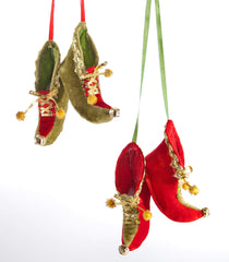 "Katherine's Collection Noel Christmas Collection Tweleve Assort 5"" Elf Shoe Ornaments Free Ship"
