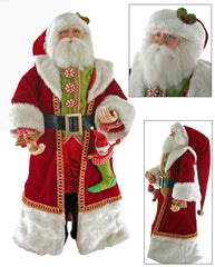 "Katherine's Collection Noel Christmas Collection 24"" Long Coat Noel Santa Claus Doll Free Ship"