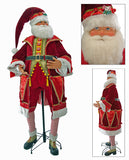 "Katherine's Collection Noel Christmas Collection Life Size 64"" Noel Santa Claus Display Doll With Stand Free Ship"