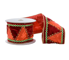 "Katherine's Collection Noel Christmas Collection Two 4"" x 5 yds Noel Santa Ribbon Rolls Free Ship"