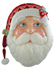 "Katherine's Collection Noel Christmas Collection 32"" Noel Santa Wall Mask Free Ship"