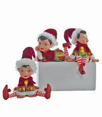 "Katherine's Collection Noel Christmas Collection Three Assorted 5"" Noel Table Top Christmas Elf Figurines Free Ship"