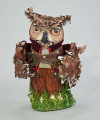 "Katherine's Collection Into The Woods Collection 13"" Owl Tree Topper Free Ship"