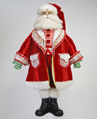 "Katherine's Collection Noel Christmas Collection Approx 24"" Peppermint Striped Santa Claus Doll Free Ship-IN STOCK"