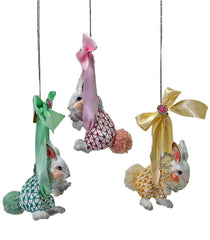 "Katherine's Collection Pirouette Christmas Collection Six Assort 7"" Pirouette Bunny Bundle Of Joy Ornaments Free Ship"