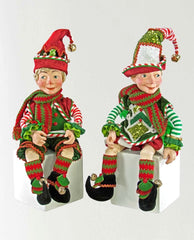 "Katherine's Collection Night Before Christmas Collection Two 24"" Posable Christmas Elves Free Ship"