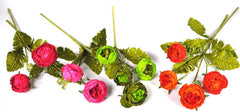 "Katherine's Collection Twelve Assort 30"" Embellished Easter Silk Ranunculus Stems Free Ship-IN STOCK"