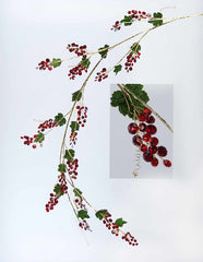 "Katherine's Collection Holiday Cheer Christmas Collection Six 36"" Red Jewel Grape Garland Free Ship"