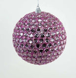 "Katherine's Collection Fifi Goes To Paris Christmas Collection Twelve 5"" Rhinestone Ball Ornaments Free Ship"