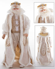 "Katherine's Collection Royal White Christmas Collection 24"" Royal Santa Claus Doll Free Ship"