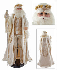 "Katherine's Collection Royal White Christmas Collection 32"" Royal Santa Claus Doll Free Ship"