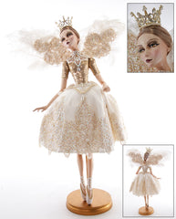 "Katherine's Collection Royal White Christmas Collection 32"" Royal Standing Fairy Doll Free Ship"
