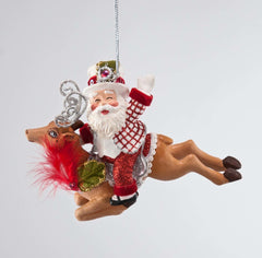 "Katherine's Collection Christmas Spectacular Collection Twelve Assort  6"" W Sanat On Reindeer Ornaments Free Ship"