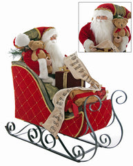 "Katherine's Collection Noel Christmas Collection 21"" Santa In Sleigh Doll Free Ship"