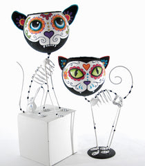 "Katherine's Collection Frida Love Halloween Collection 13.5"" Skeleton Cat And Dog Containers Free Ship"